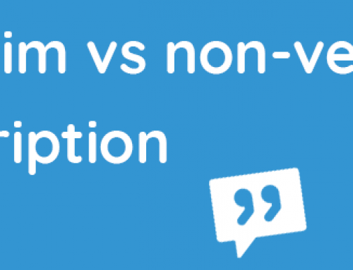 Verbatim vs non-verbatim transcription